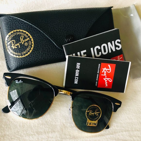 New Ray Ban Clubmaster Classic Sunglasses (Women)